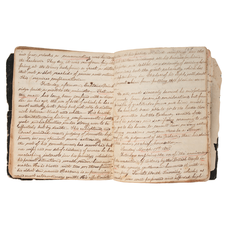Extraordinary Barbary Wars-Era, United States Naval Officer's POW Diary, Ca 1803-1805