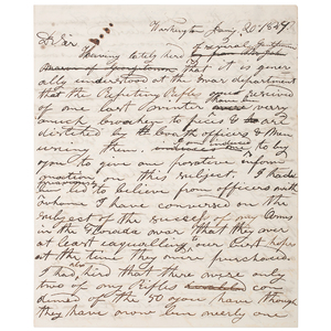 Samuel Colt, Important Correspondence with Lieutenant Colonel W.S. Harney Regarding Colt's First Sales to the US Army, 1837