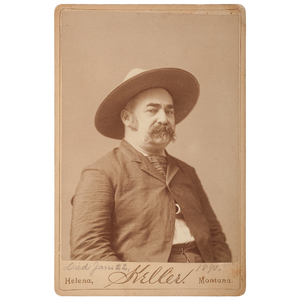 Cabinet Card of J.X. Beidler, Wells Fargo's Famed Shot-Gun Messenger