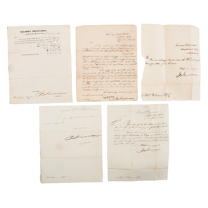 Joseph Anderson, Revolutionary War Hero and Senator of Tennessee, Letters and Documents Signed