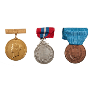 US Presidential Gold Medal Presented to English Boatman John Webb for Lifesaving, Plus Others