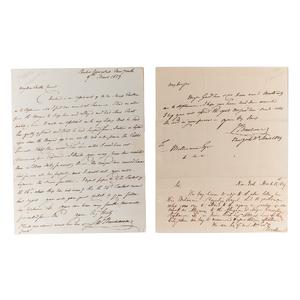 James Buchanan, ALS and ANS, March 1829