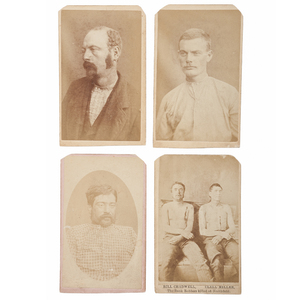 CDVs of the Younger Gang, Killed and Captured After the Northfield Raid