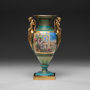 Copeland Porcelain Hand-Painted Vase