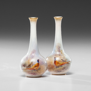 Royal Worcester Vases, Decorated by James Stinton
