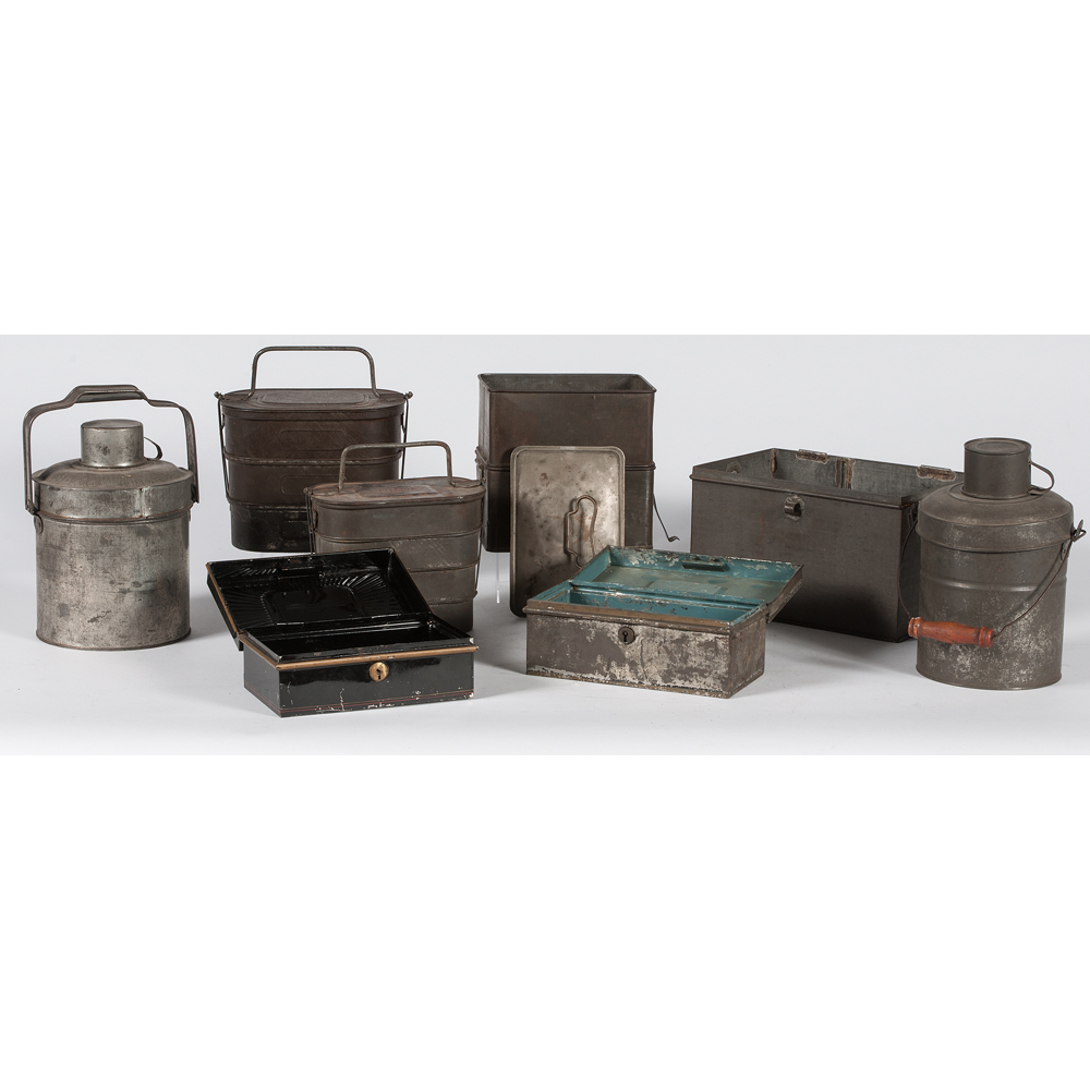 Zinc Lunch Pails And Boxes Cowan 39 S Auction House The Midwest 39 S Most Trusted Auction House