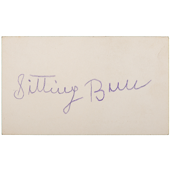 Sitting bull signed business card cowans auction house the sitting bull signed business card tap to expand reheart Image collections