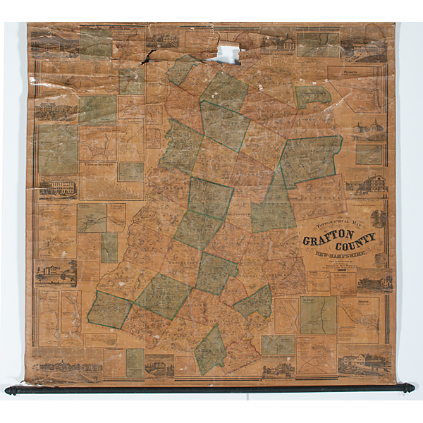 Topographical Map Of Grafton County New Hampshire 1860