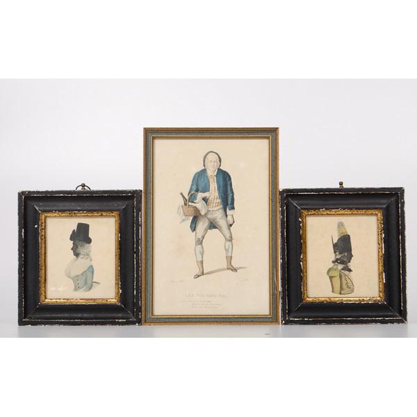 borghese miniature silhouette portrait prints plus cowan s