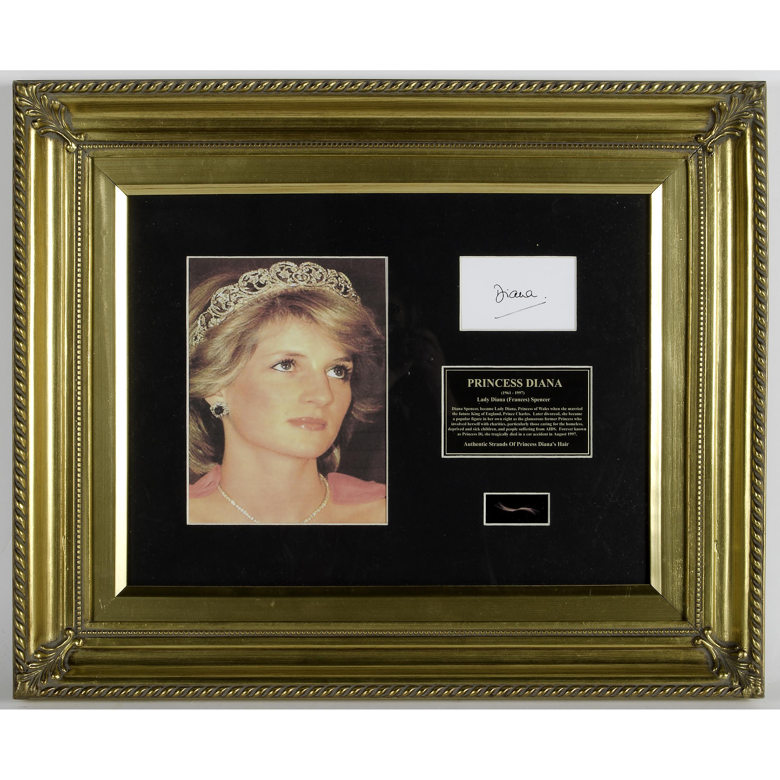 Princess Diana Lock of Hair | Cowan's Auction House: The