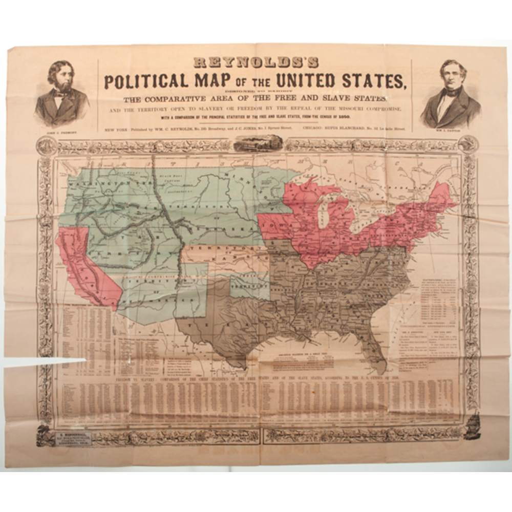 Political Map Of Usa 2015.Reynolds S Political Map Of The United States 1856 Cowan S
