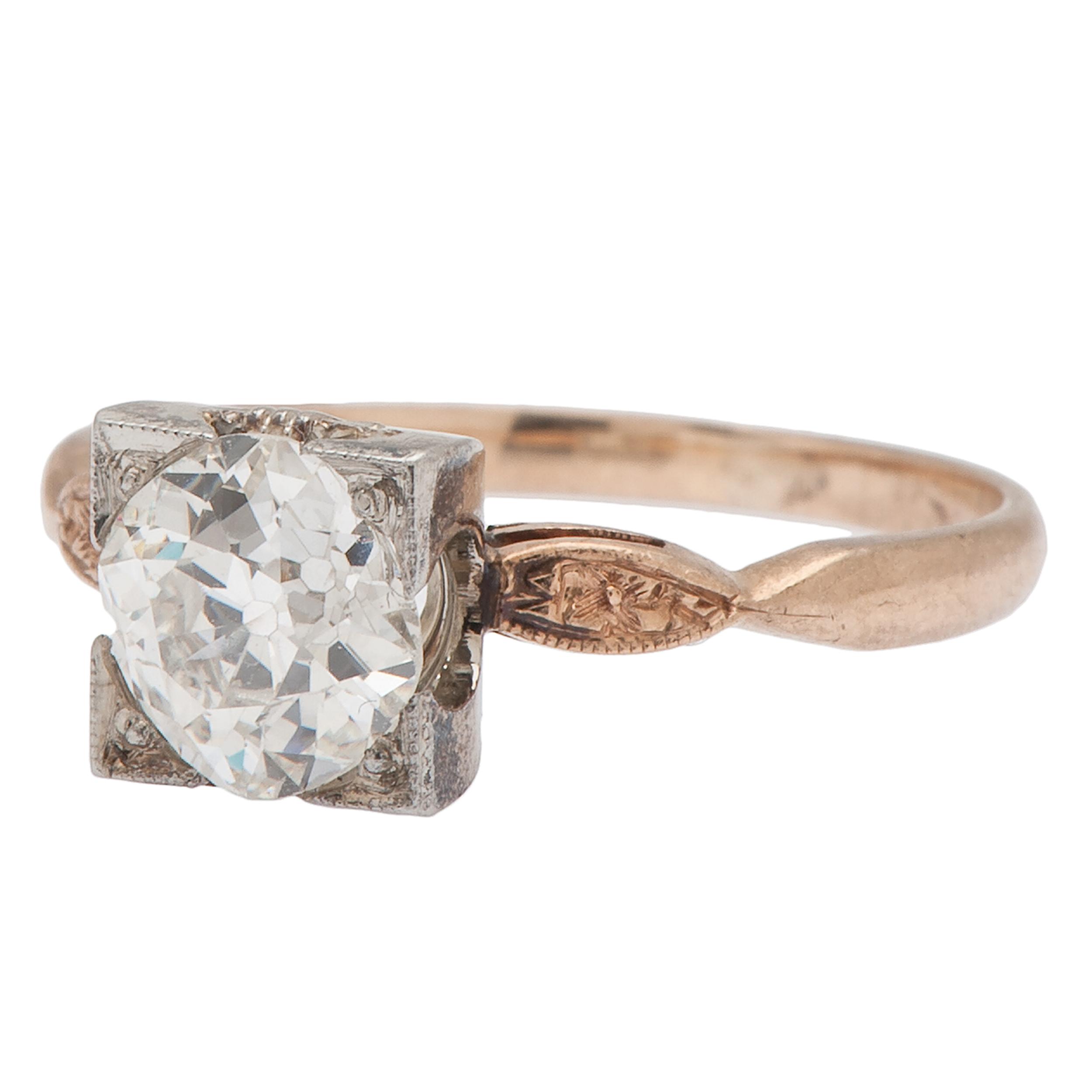 Old Mine Cut Diamond Engagement Ring In Karat Gold  Cowan. Art Nouveau Engagement Rings. Magnesium Wedding Rings. Raw Cut Diamond Wedding Rings. Basket Wedding Rings. Loop Rings. $70000 Wedding Rings. Head Engagement Rings. Girlfriend Rings