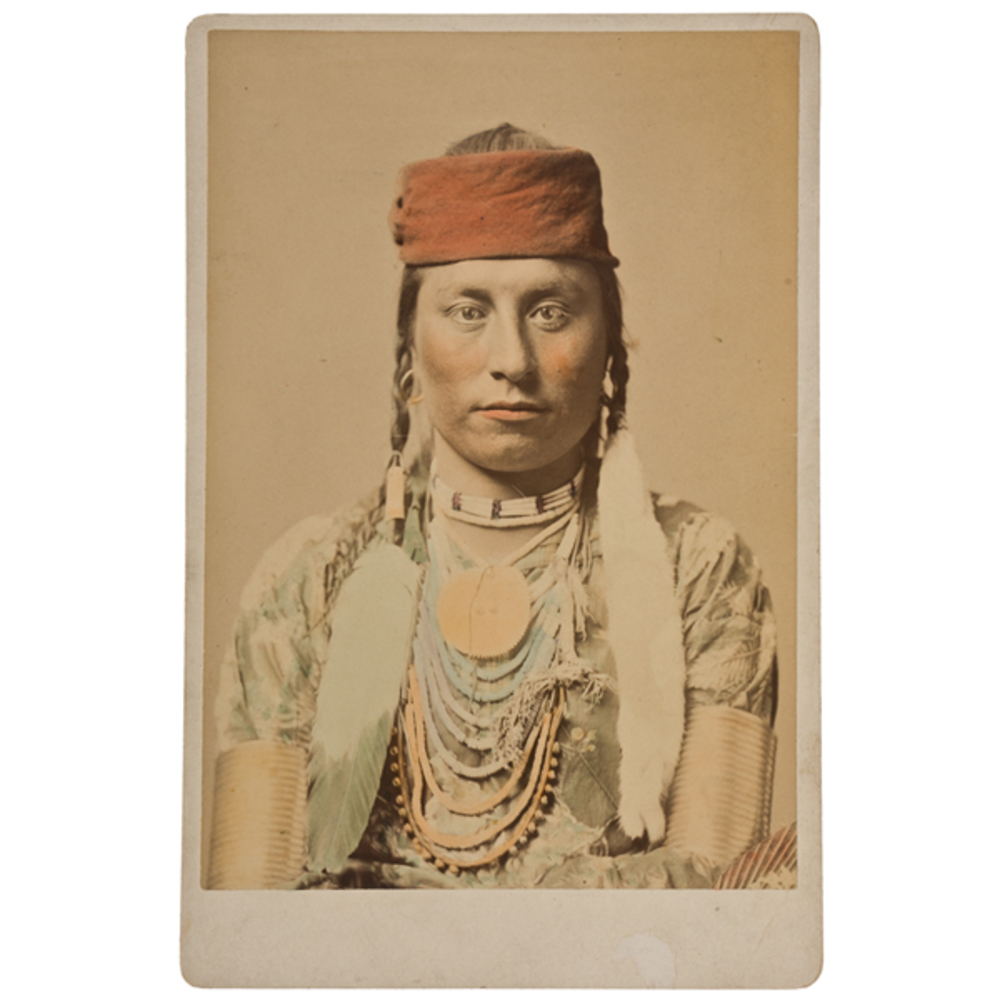 F.J. Haynes Cabinet Photographs Of Crow Indians, Group Of 3