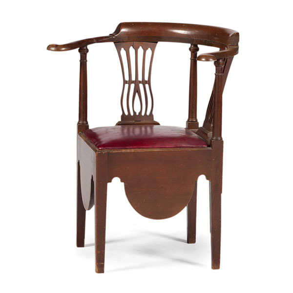 Chippendale Commode Corner Chair. Hover To Zoom