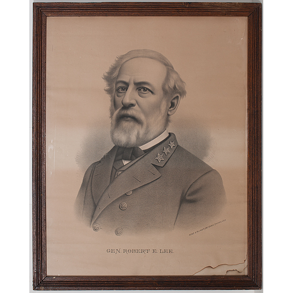 Robert E Lee Lithograph By Kurz Allison Plus Gettysburg