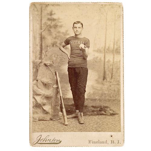 Cabinet Card Of Baseball Captain Cowans Auction House