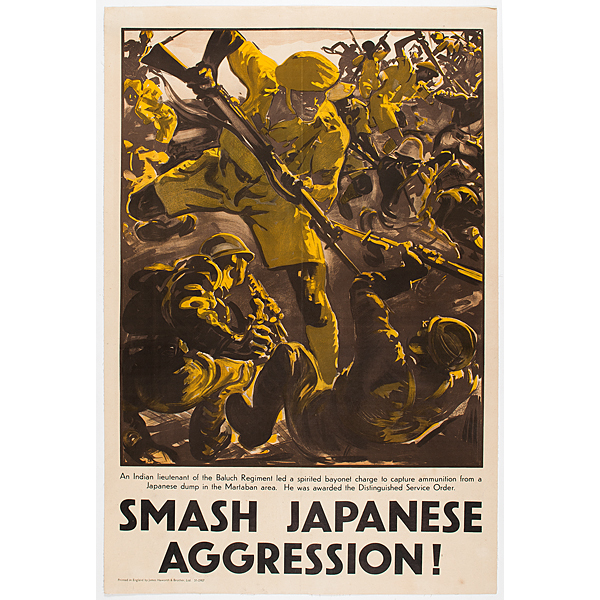 Smash Japanese Aggression, World War II Poster | Cowan's