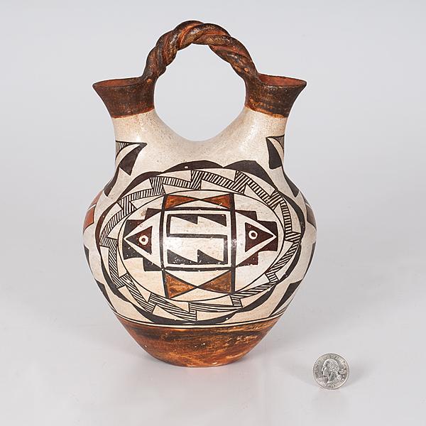 Acoma Polychrome Pottery Wedding Vase Cowans Auction House The
