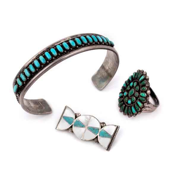 Zuni Needlepoint Turquoise Ring