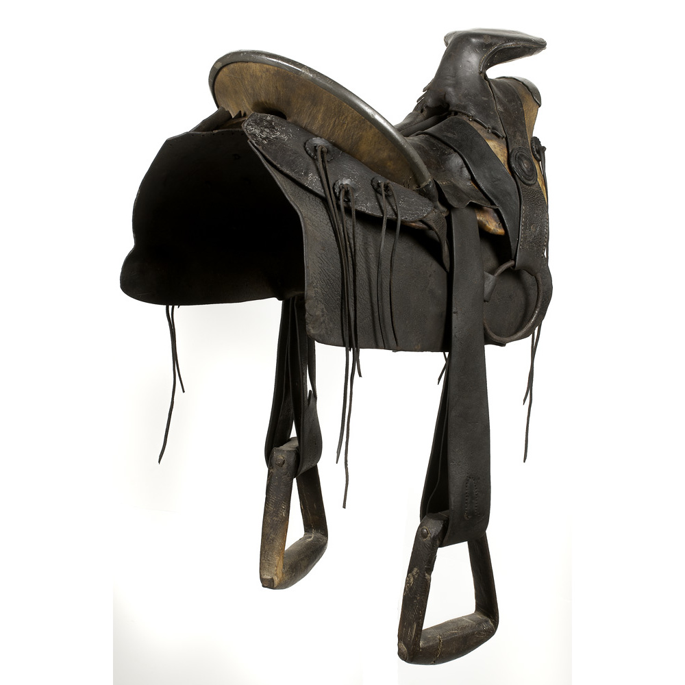 Texas Hope Pattern Confederate Saddle Captured At