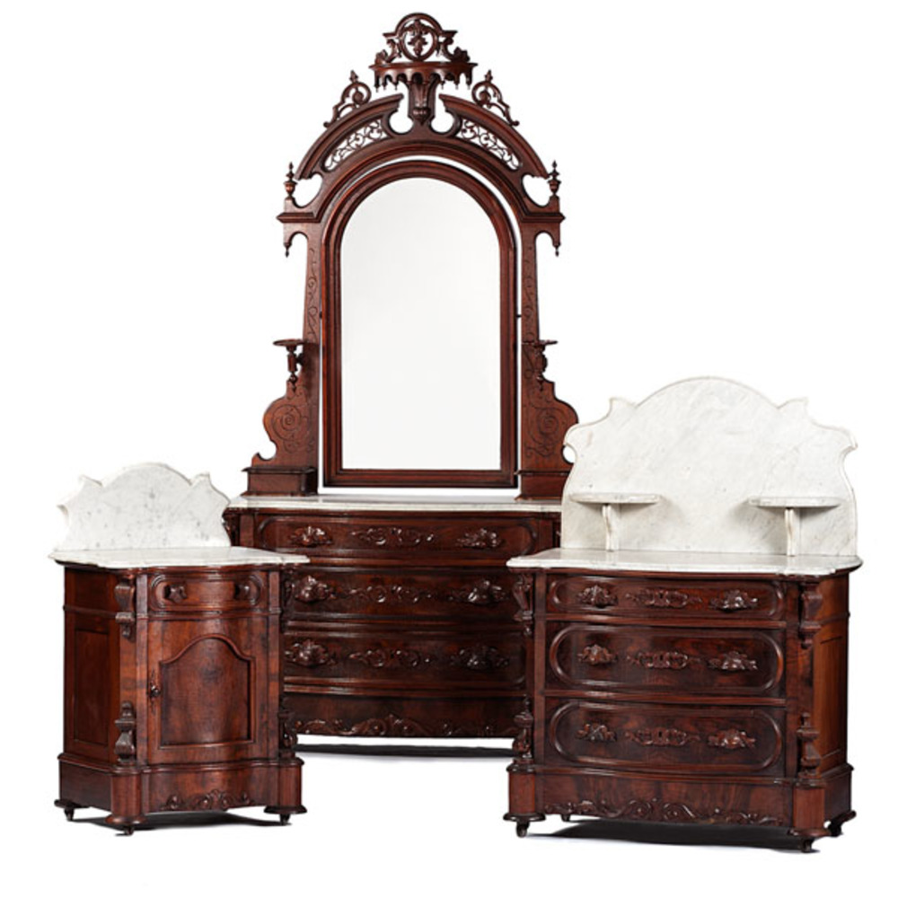 h b mudge furniture co rococo revival bedroom suite cowan 39 s auction house the midwest 39 s. Black Bedroom Furniture Sets. Home Design Ideas