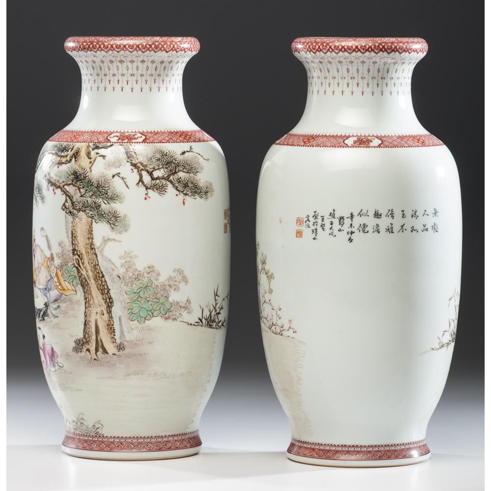 Chinese Republic Period Porcelain Vases Cowan S Auction