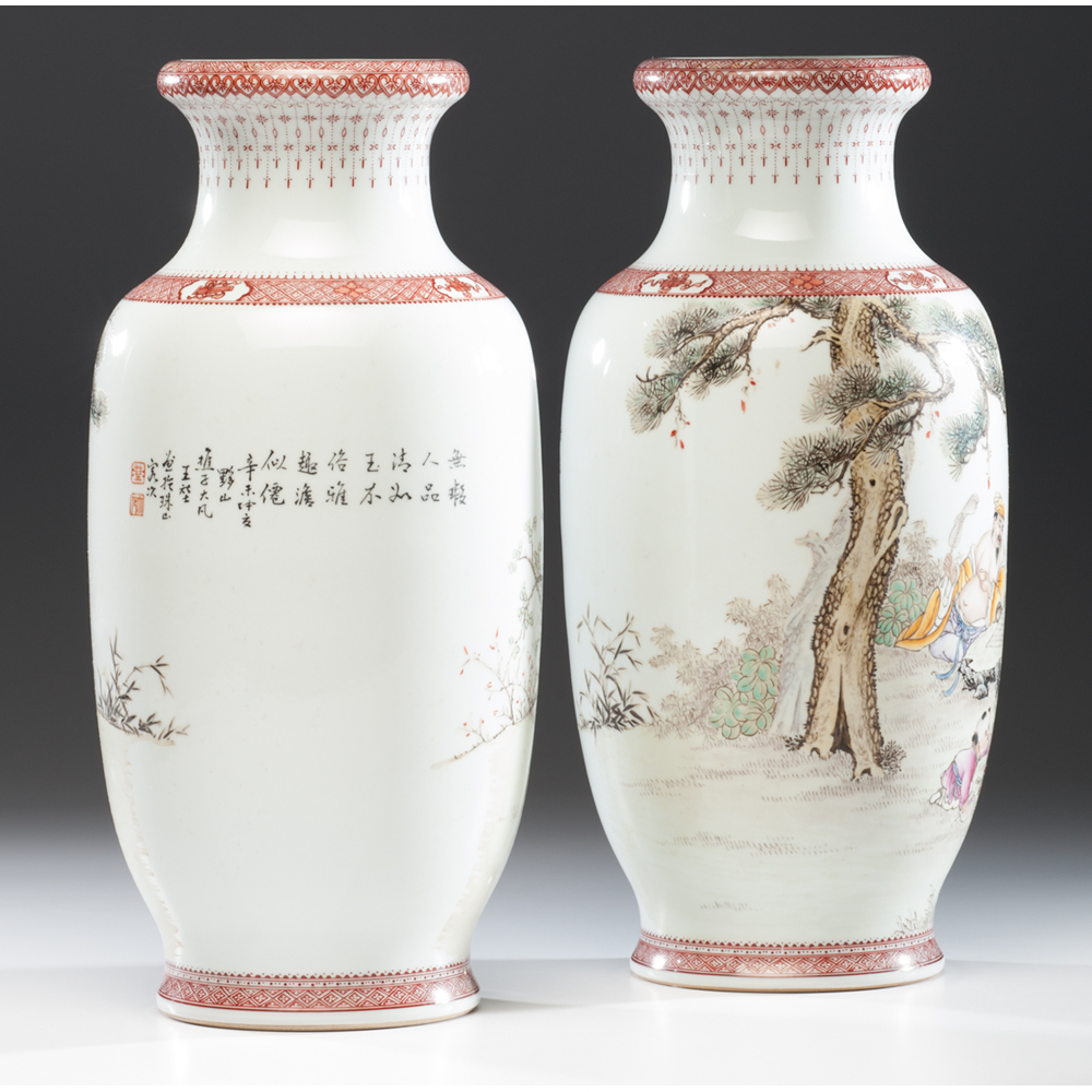 Chinese Republic Period Porcelain Vases Cowan S Auction