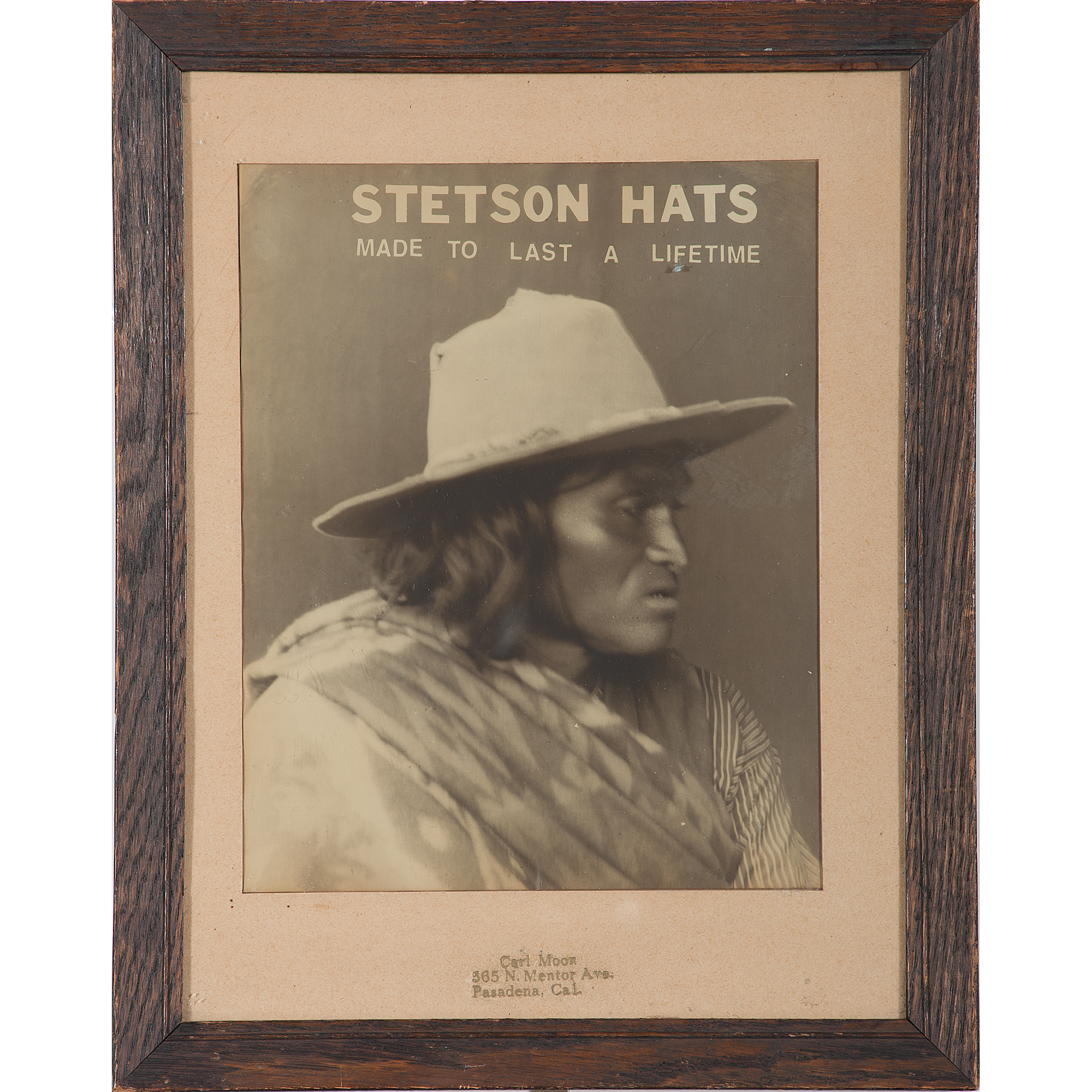 Carl Moon Photographic Advertisement for Stetson Hats  f2c97e11c9e2