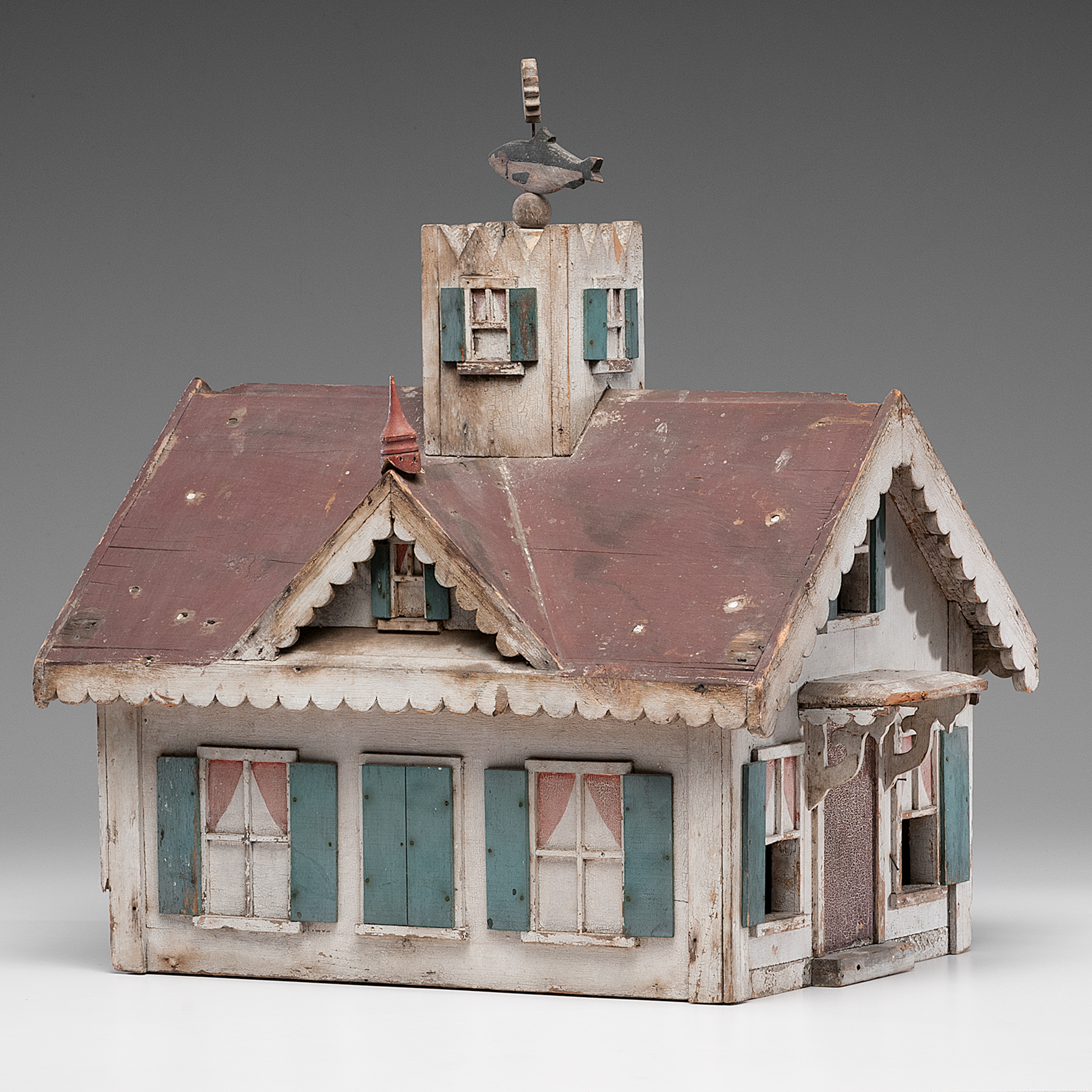 Folk Art Bird House With Weathervane Cowan S Auction House The Midwest S Most Trusted Auction