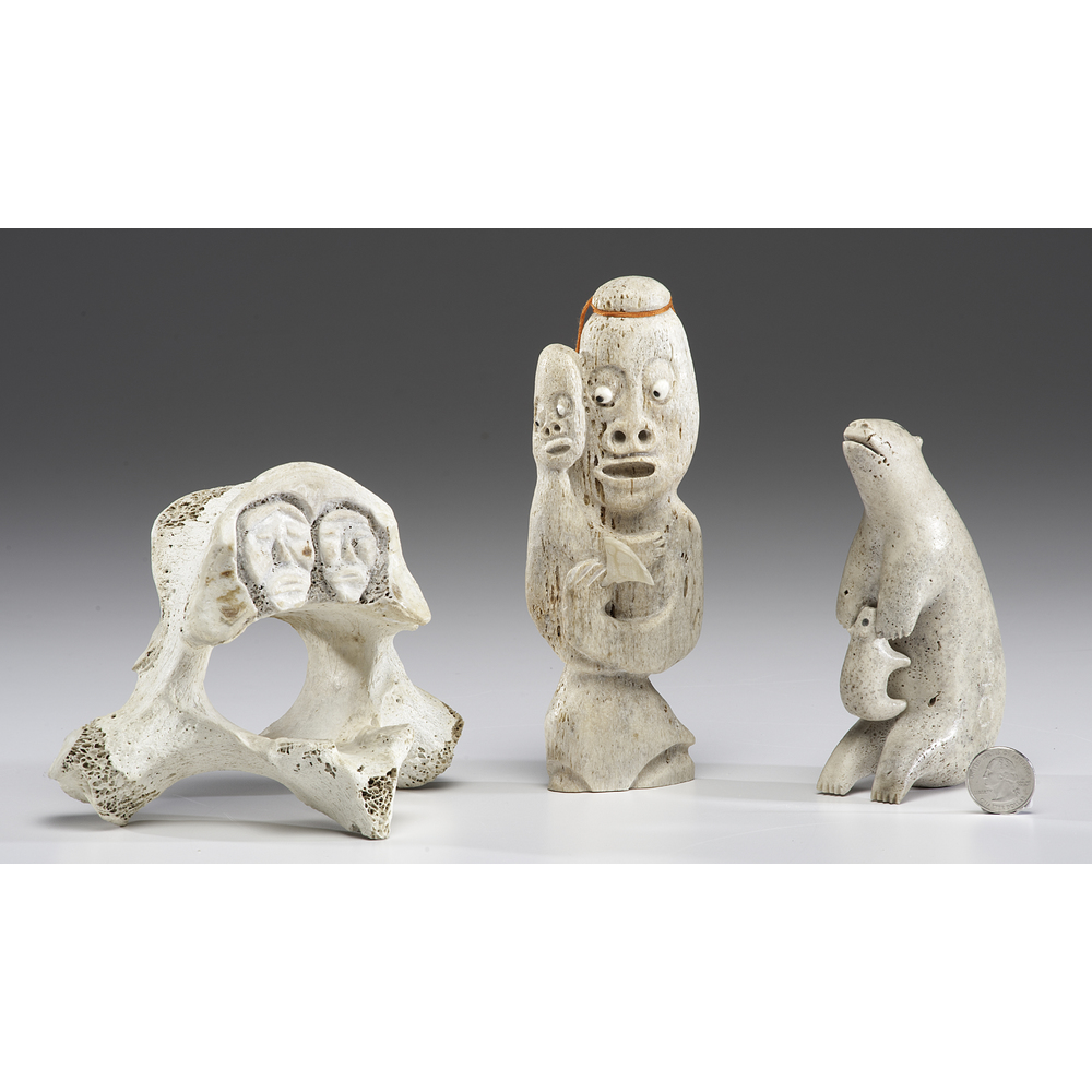 Greenland Eskimo And Inuit Whalebone Carvings Cowan S Auction House The Midwest S Most Trusted Auction House Antiques Fine Art Art Appraisals