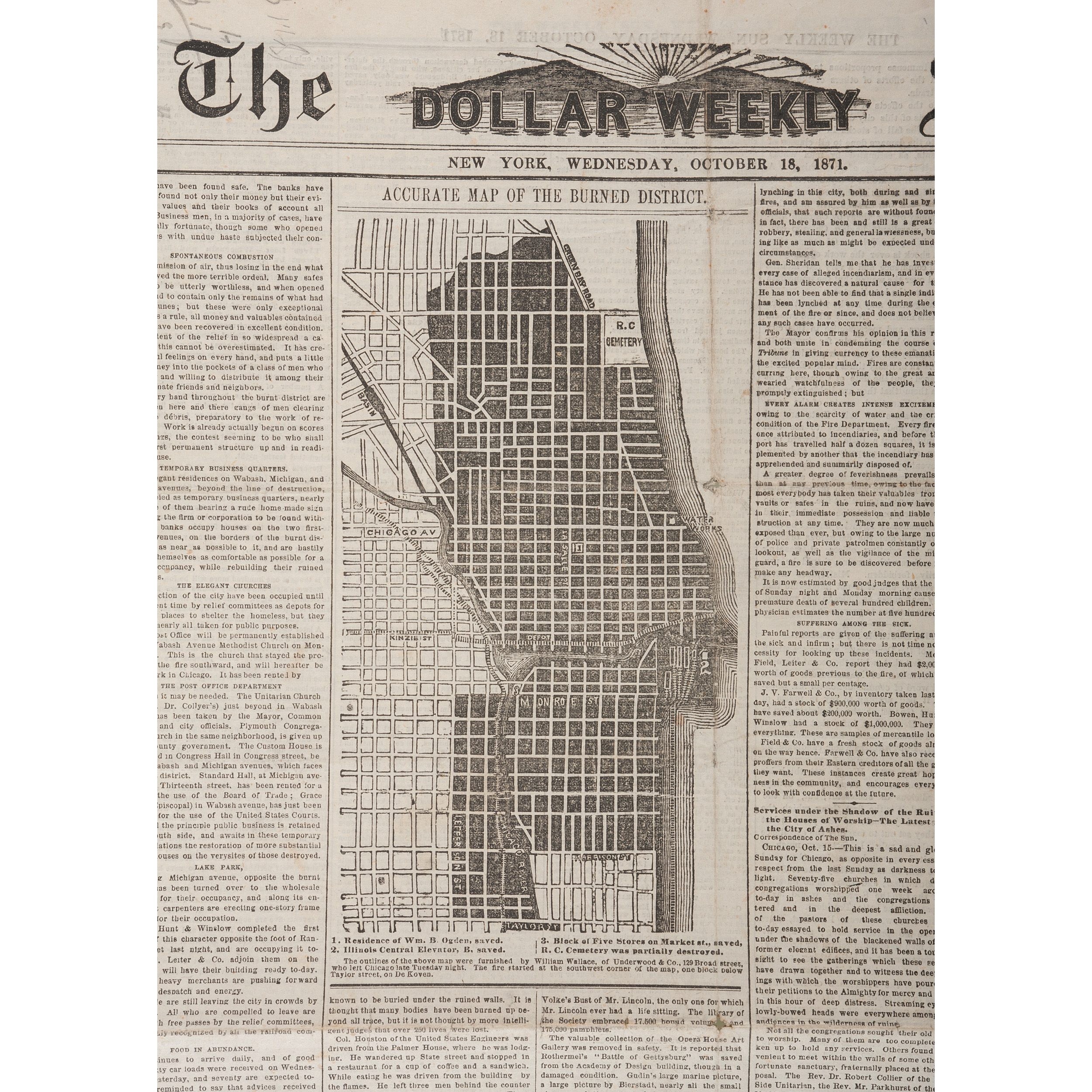 The Great Chicago Fire Of 1871 Newspaper Account Including Accurate