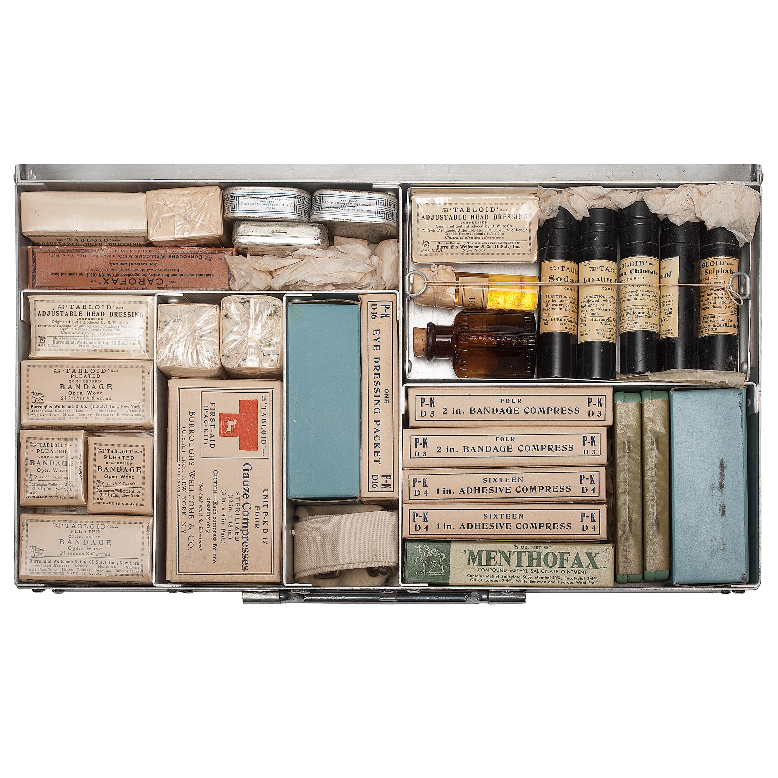 Plan Dressing En U burroughs-welcome first aid kit carried on 1947 captain finn