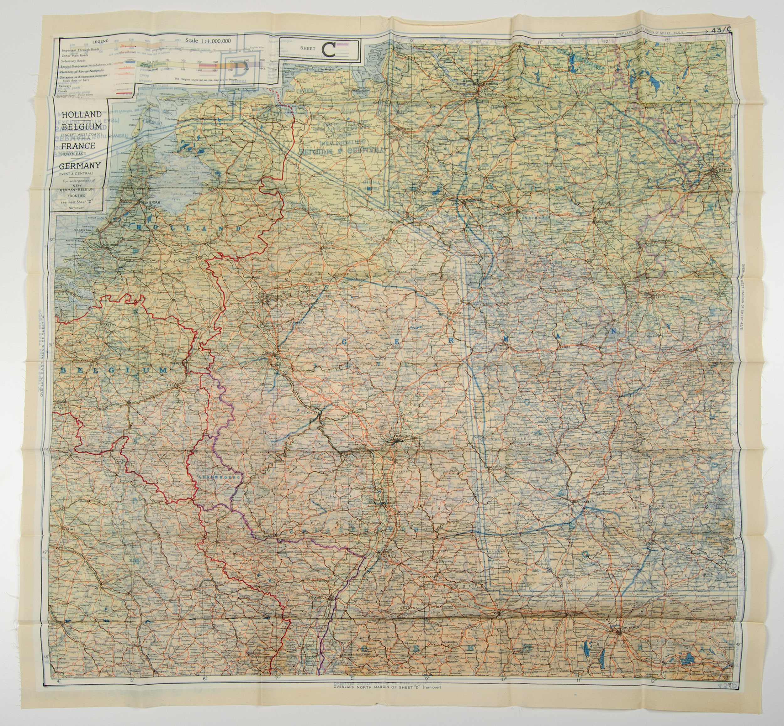 Road Map Of Germany 2017.World War Ii Pilot Escape Silk Map Aerial Pilots Maps And More