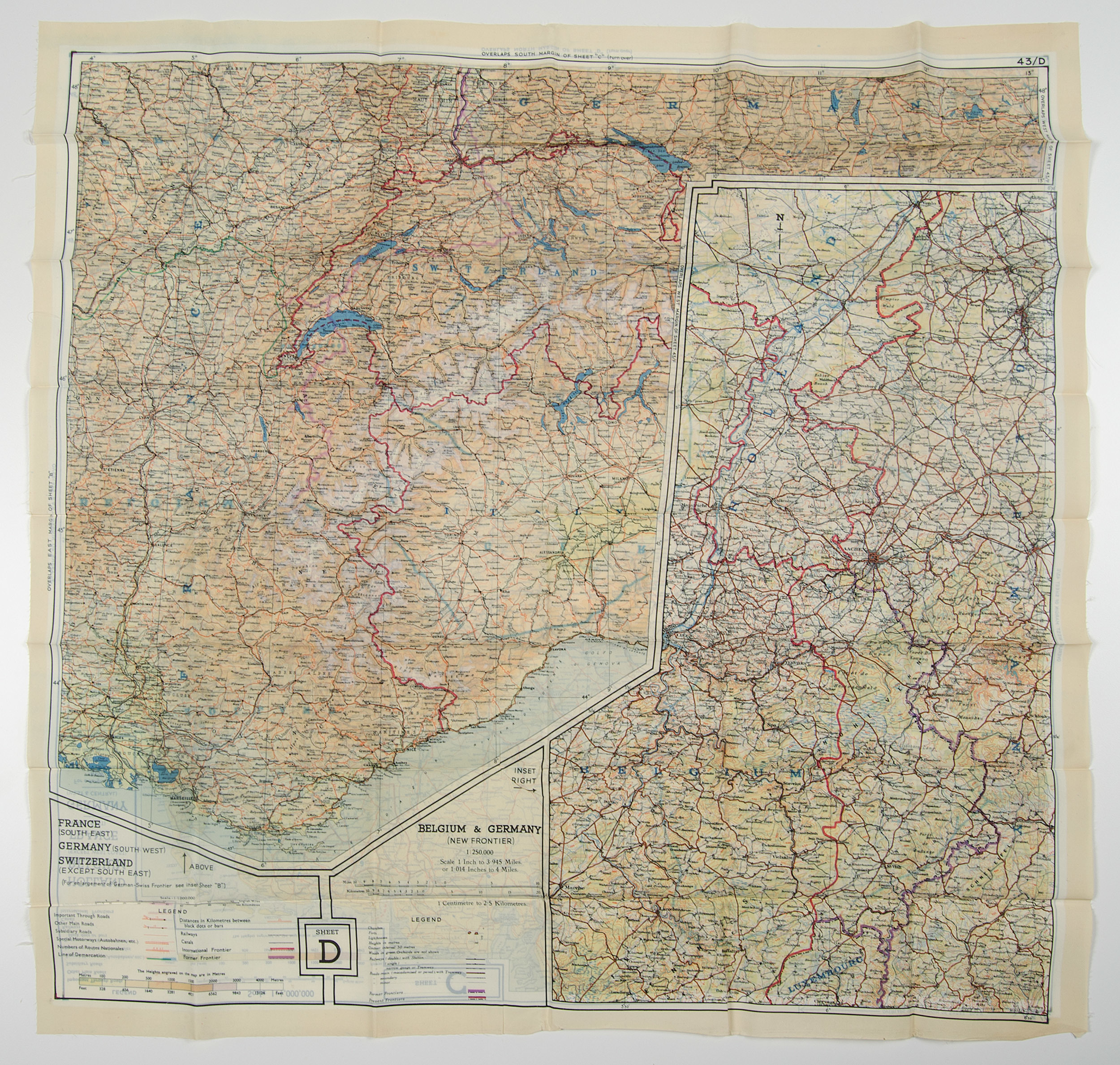 Map France 945.World War Ii Pilot Escape Silk Map Aerial Pilots Maps And More