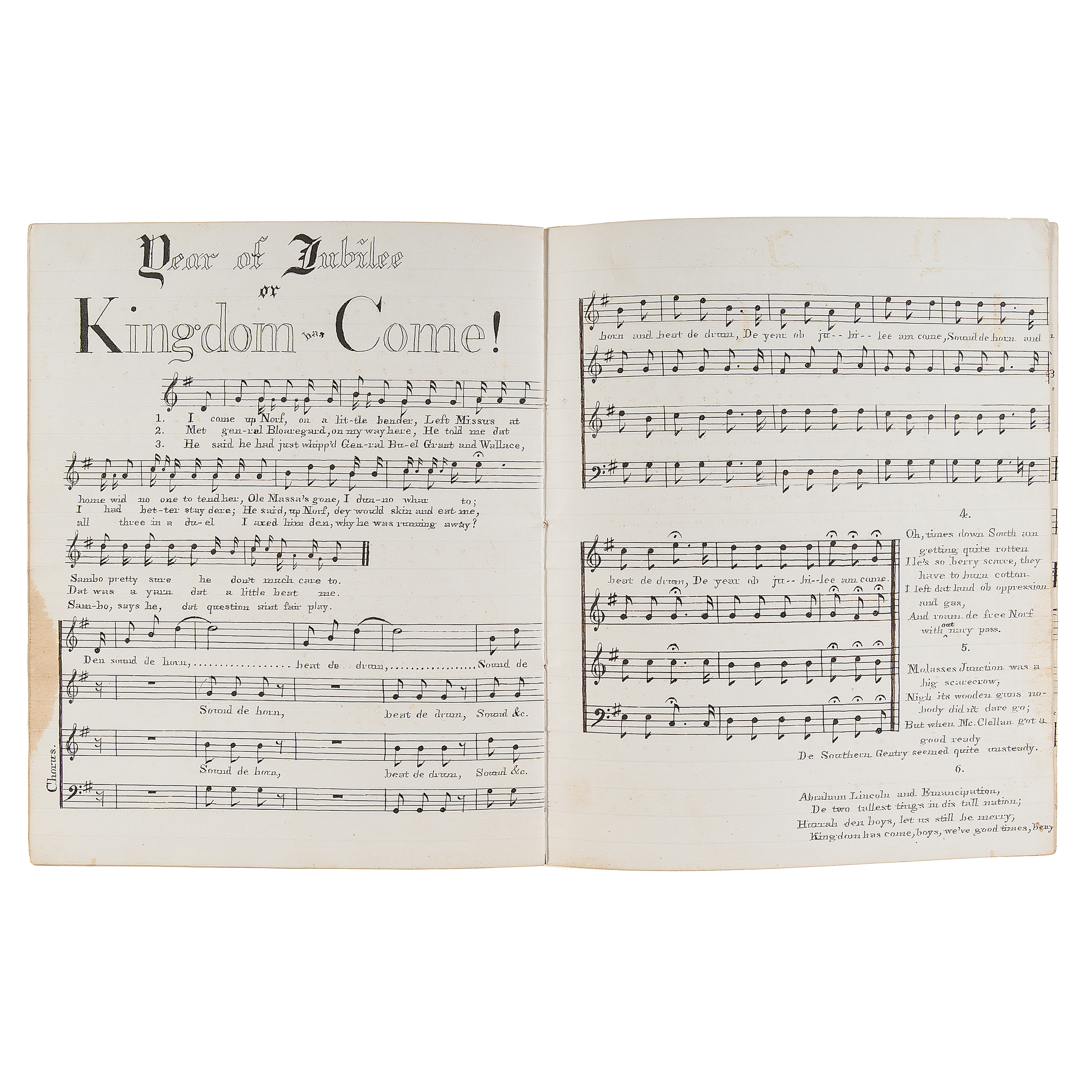 Hand Made Union Patriotic Song Book Containing