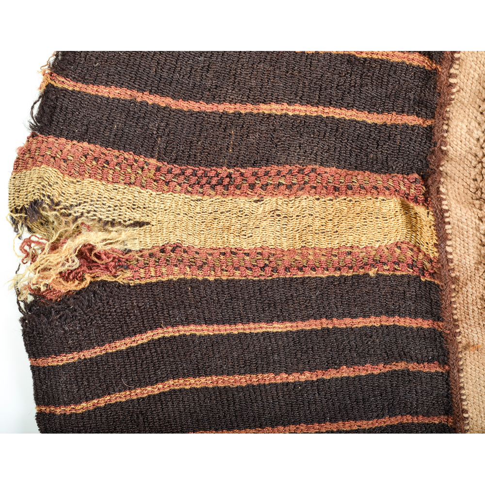 Early Peruvian Woven Bag and Ancient Egyptian Textile