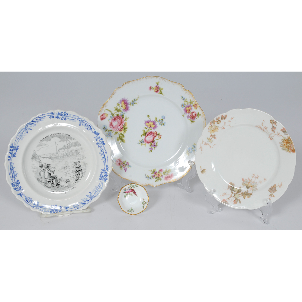 French Creamware And Limoges Plates, Plus