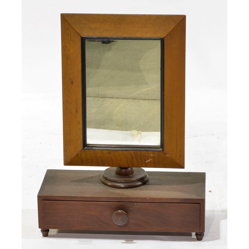 Federal style shaving mirror cowan 39 s auction house the for Shaving mirror