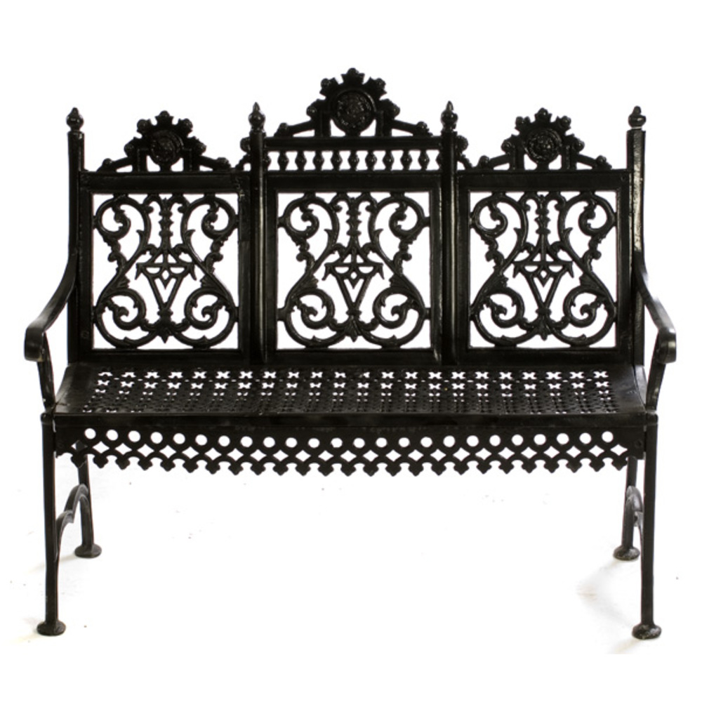 Dayton, Ohio Cast Iron Bench,