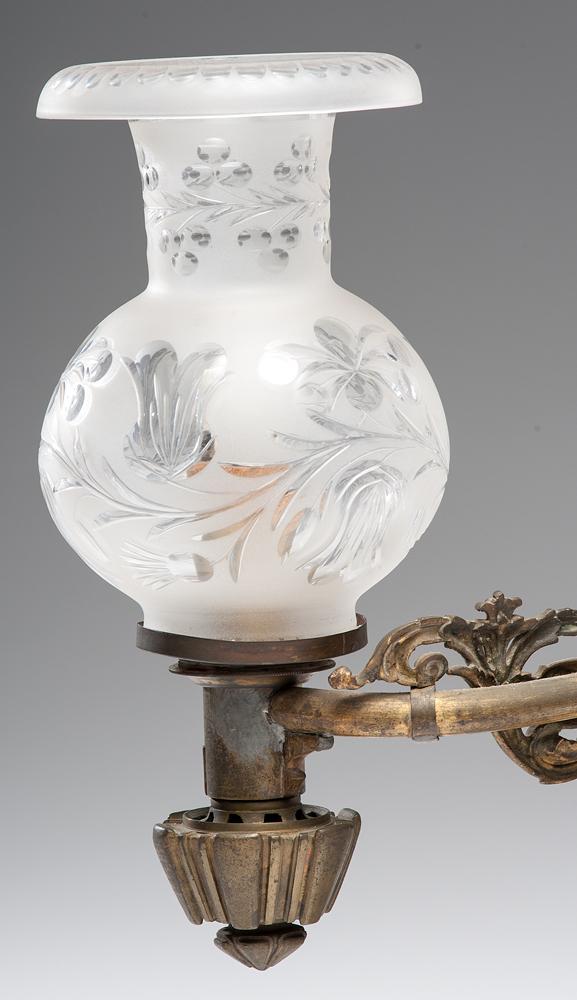 English Argand Lamp, Retailed By B. Gardiner