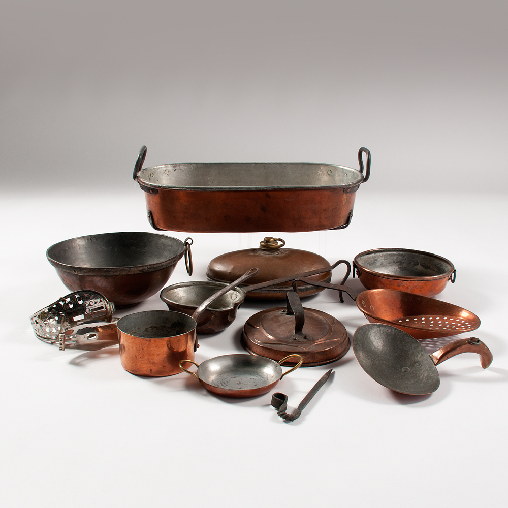copper pots pans and utensils plus cowan 39 s auction. Black Bedroom Furniture Sets. Home Design Ideas