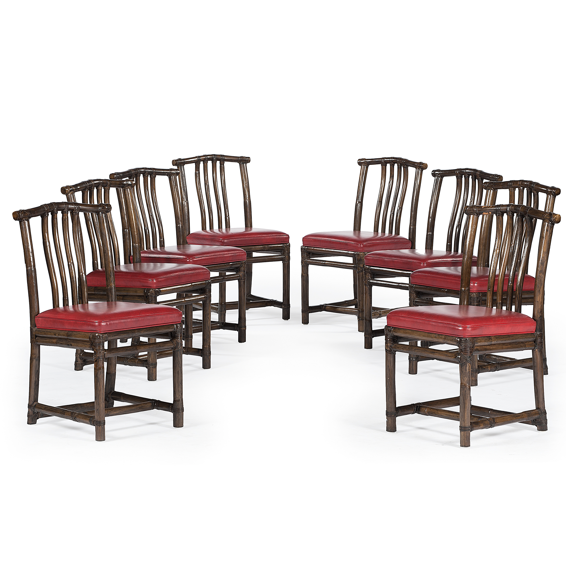 McGuire Of San Francisco Faux Bamboo Side Chairs