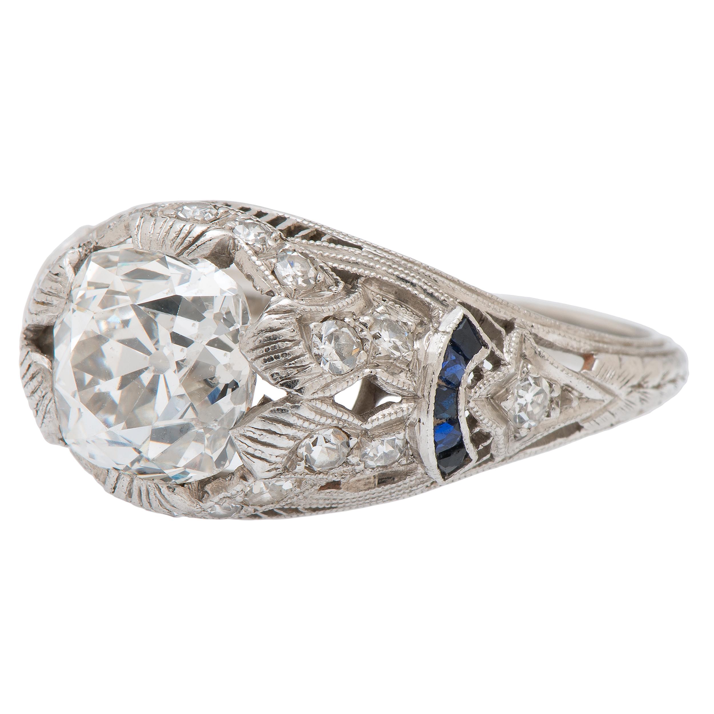 House Platinum: Diamond Art Deco Platinum Ring