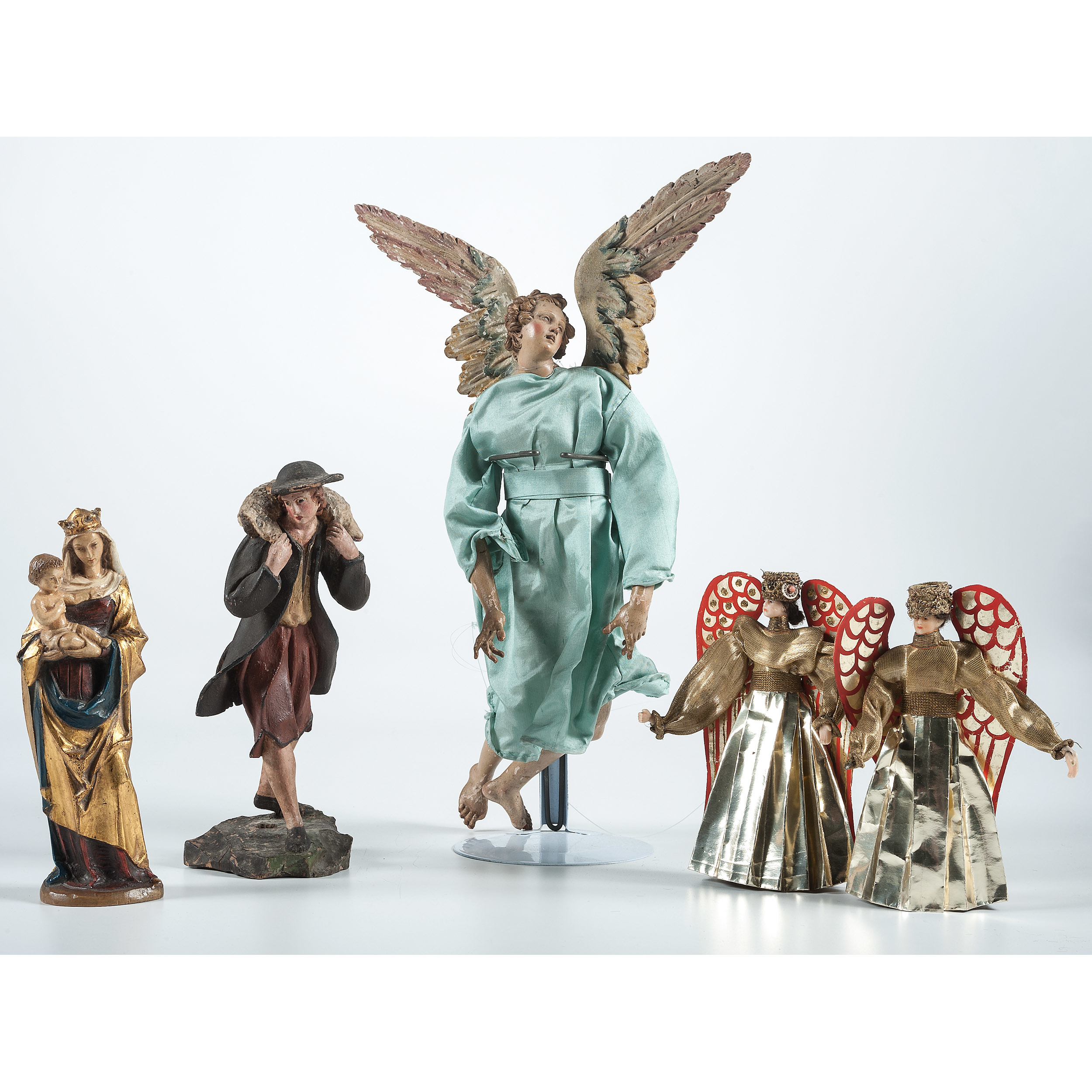 Vintage Religious Nativity Christmas Ornament: Antique Christmas Ornaments And Nativity Figures