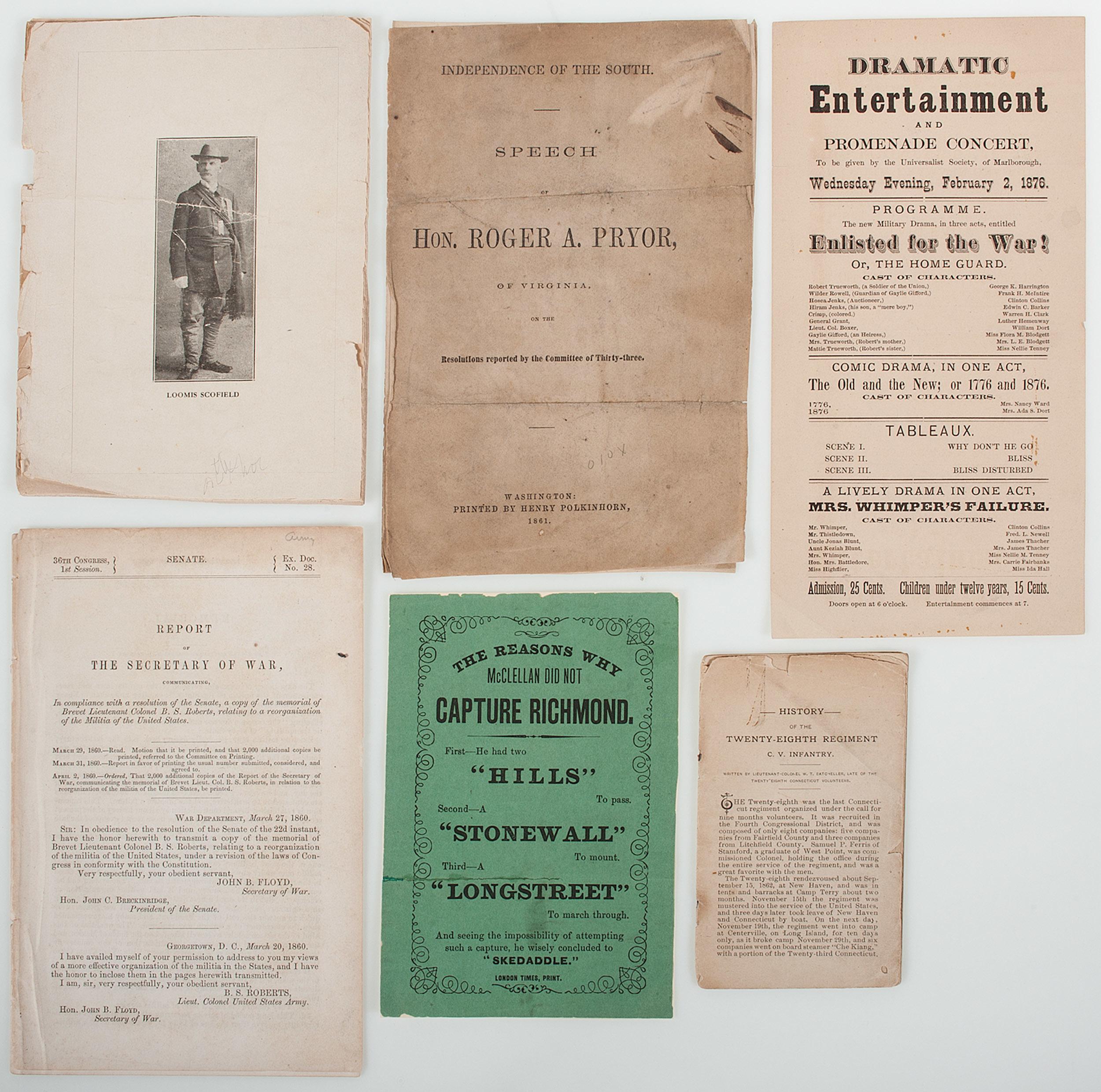 Civil war papers