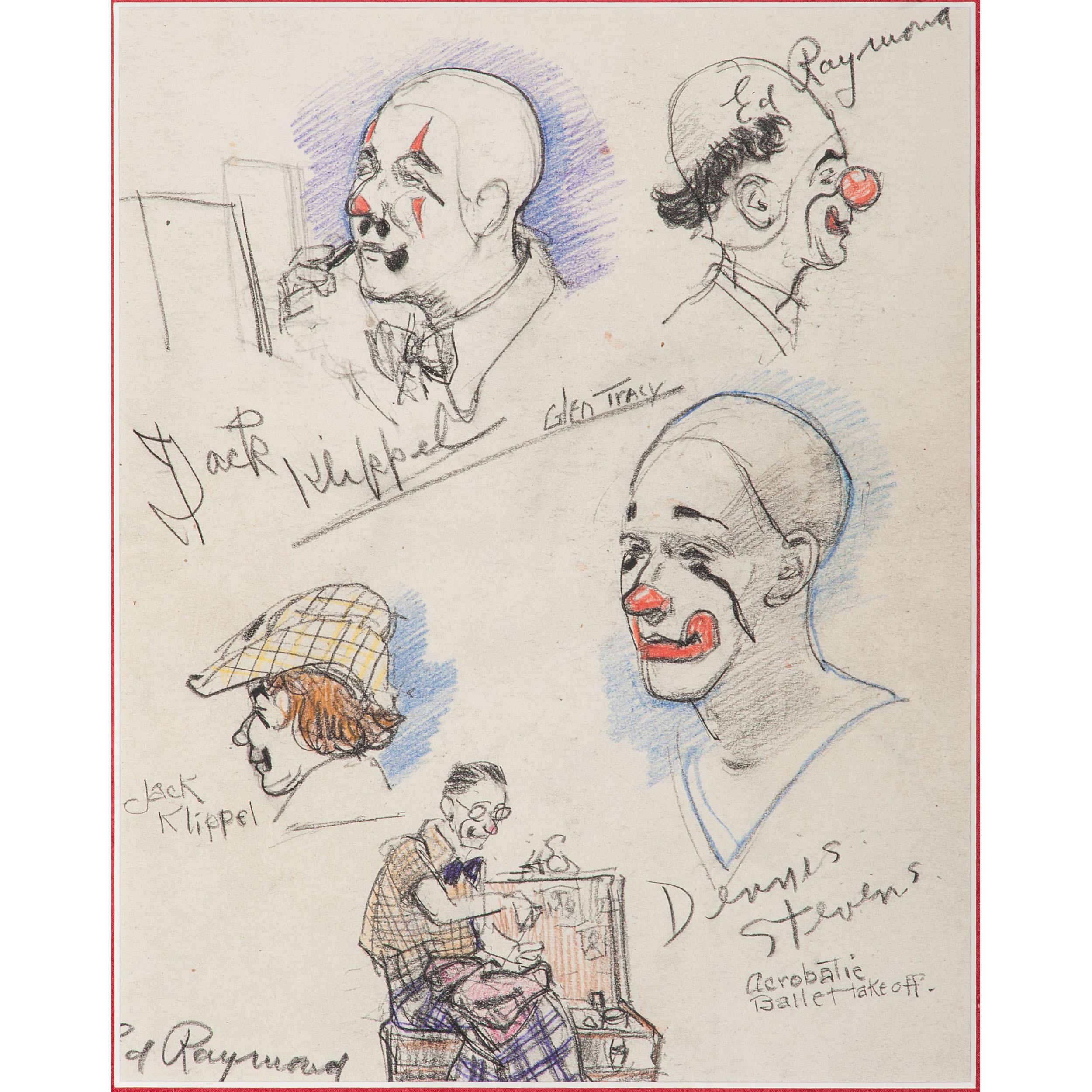 Glen tracy cincinnati 1883 1956 four graphite and pencil drawings