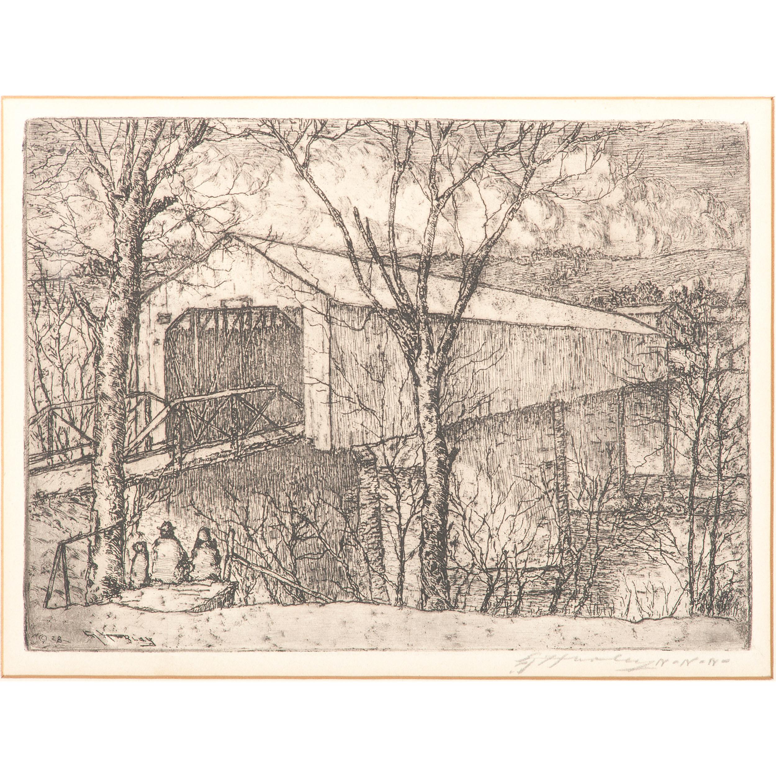 Edward Timothy Hurley Cincinnati 1869 1950 Two Etchings