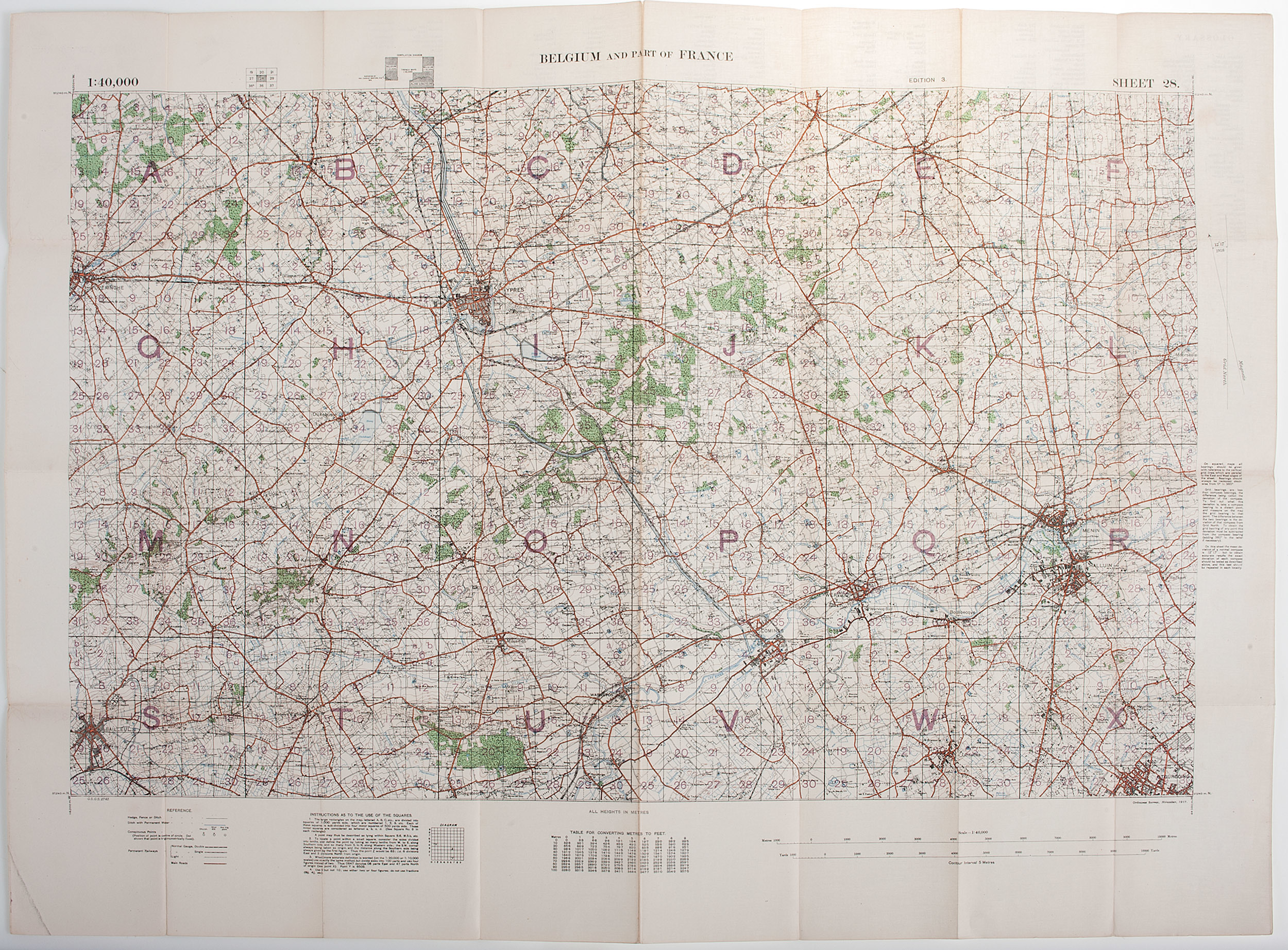 World War One - Maps] WWI Military Maps of North West Europe ...