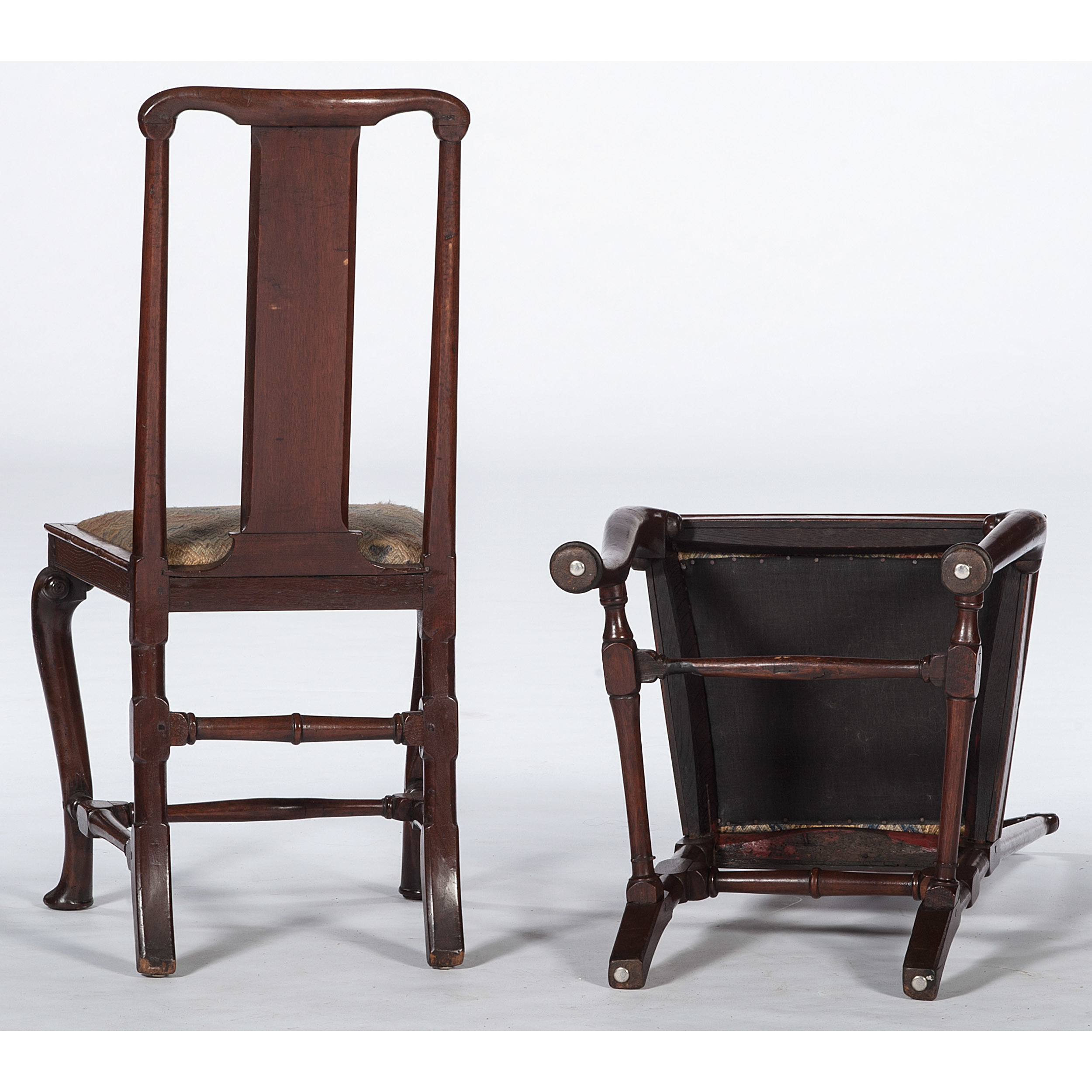 continental queen anne chairs cowan s auction house the midwest s