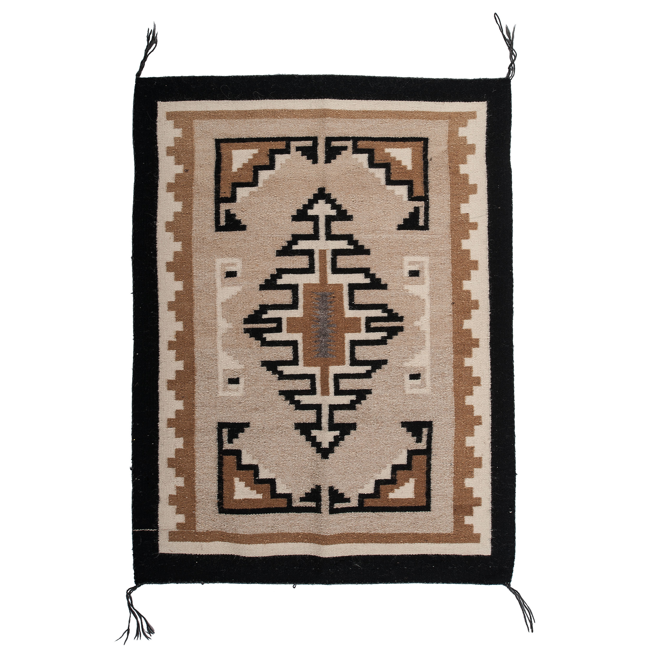 Navajo Two Grey Hills Weaving Rug Cowan S Auction